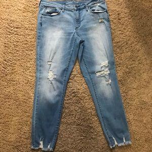 Universal Thread light denim distressed jeans